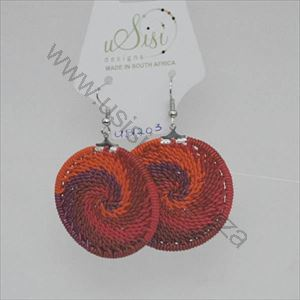 Picture of Us1203 Scoobie Disk Earrings