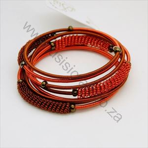 Picture of us72 Bracelet - Wrapped copper wire - spiral