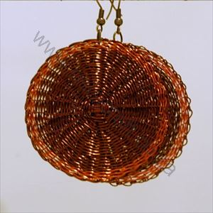 Picture of us1276 Earrings - Copper Woven flat disks