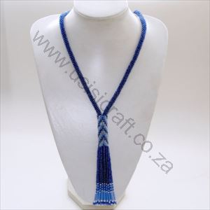 Picture of us862 Necklace-Beaded Rope with tasslels-80cm
