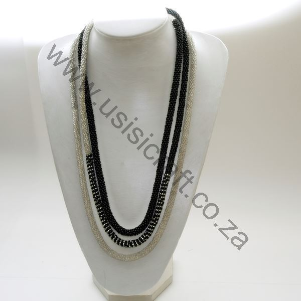 Us816 Necklace Crochet Beaded Rope With Detail Pattern Usisi Designs