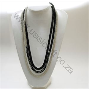 Picture of us816 Necklace crochet beaded Rope with detail pattern