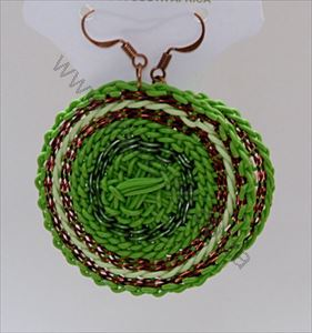 Picture of us631 Earrings - Wireblend - Woven Disk