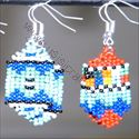 Picture of us1220 Earrings - Beaded Shield - small