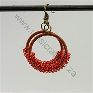 Picture of us1270 Earrings-Copper Wire Round Firifiri