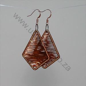 Picture of us1278 Earrings-Copper Wire Diamond