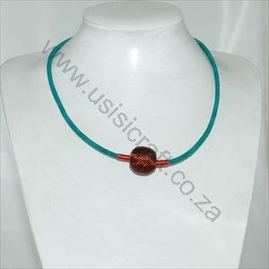 Picture of us657 Necklace - Wireblend woven small Copper on chocker